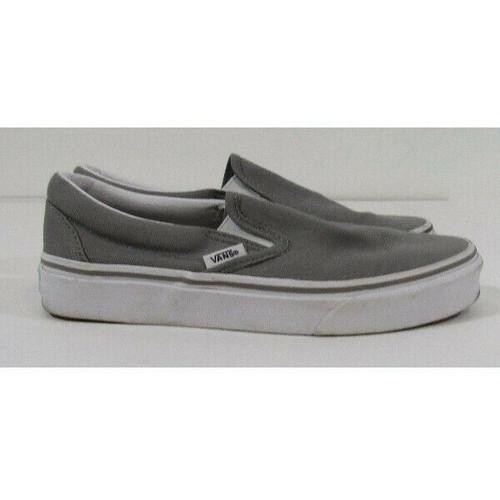 Vans Gray Women's Slip-On Canvas Shoes Size 6