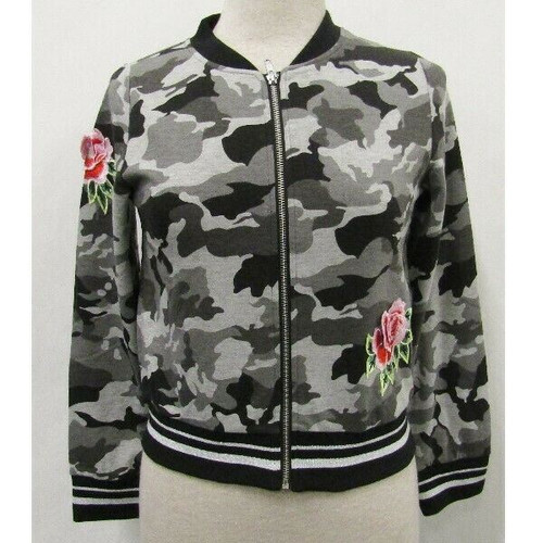 Kidpik Gray Camo & Rose Girls Jacket NWT Youth Size 14