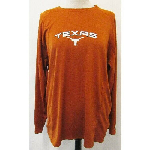 Pro Player Texas Longhorns Long Sleeve Polyester Shirt Size XL