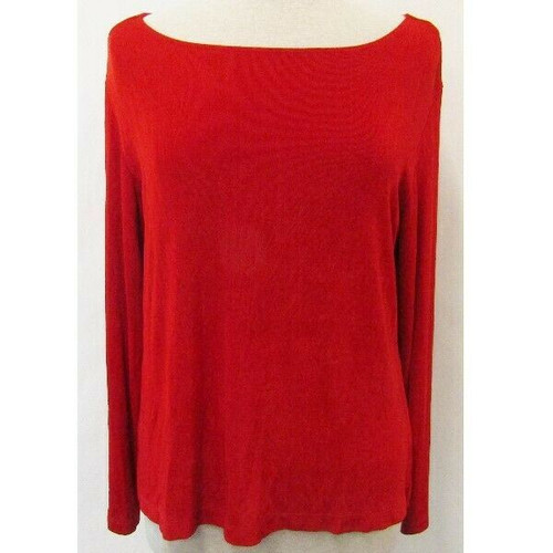 Chico's Travelers Red Women's 3/4 Sleeve Blouse Size 3