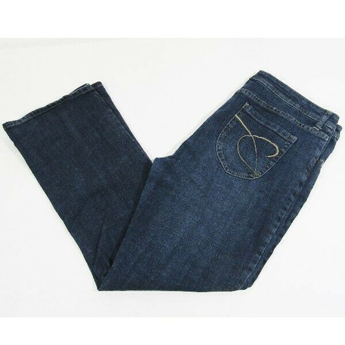 Chico's Platinum Dark Wash Straight Leg Women's Jeans Size 2 Short