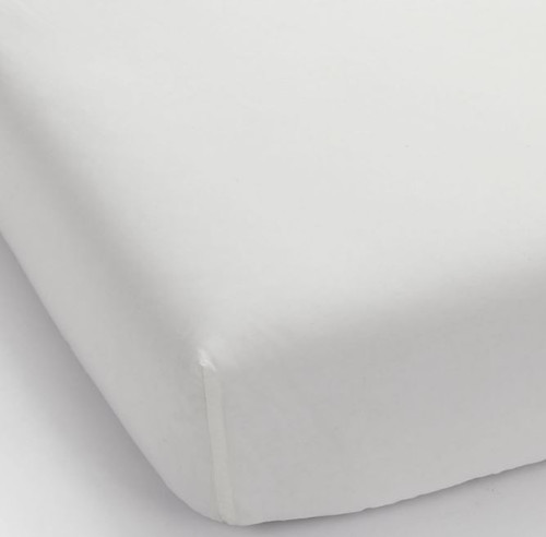 West Elm White Twin 400 Count Organic Cotton Percale Fitted Sheet Only NEW DIRT