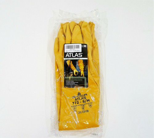 Showa Atlas 772 - 8M Nitrile Coated Gloves Size M - NEW SEALED