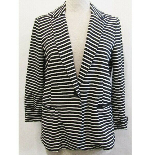 Philosophy Black & Ivory Striped Women's Blazer New with Tags Size L