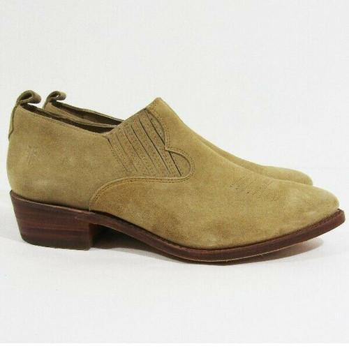 Frye Billy Shootie Genuine Leather Women's Tan Ankle Boots Size 10