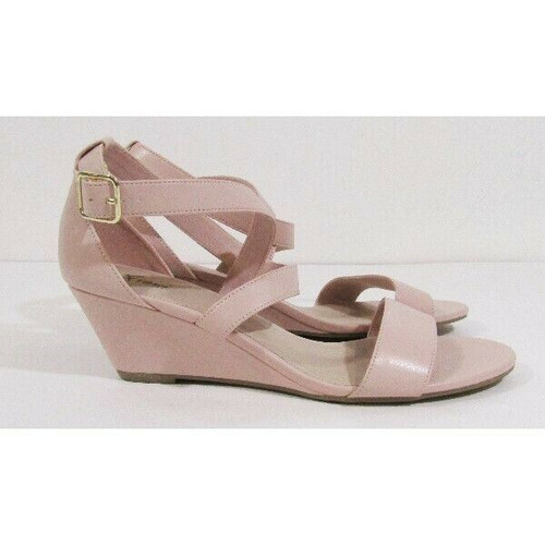 Fioni Blush Pink Mid-Wedge Women's Sandal Size 9.5W