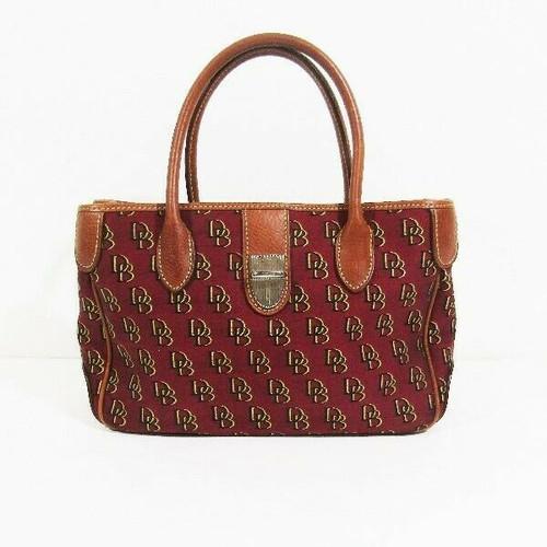 Dooney & Bourke Maroon Monogram Women's Handbag *Missing Crossbody Strap*