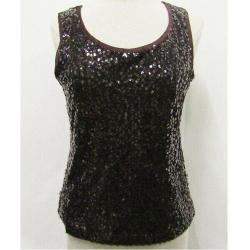 Chico's Travelers Plum Sequined Women's Tank Top NWT Size 0