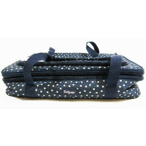 Thirty One Blue Polka Dot Thermal Lined Casserole Carry Bag NWT 16x12x4