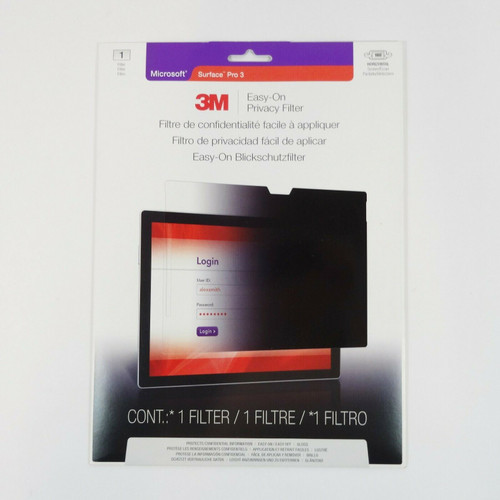 3M Easy-On Privacy Filter for Microsoft Surface Pro 3  NEW