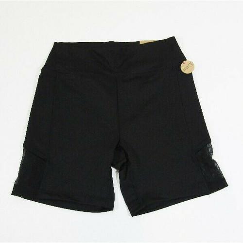 Pink Ultimate Sport Black Women's Classic Bike Shorts NWT Size M