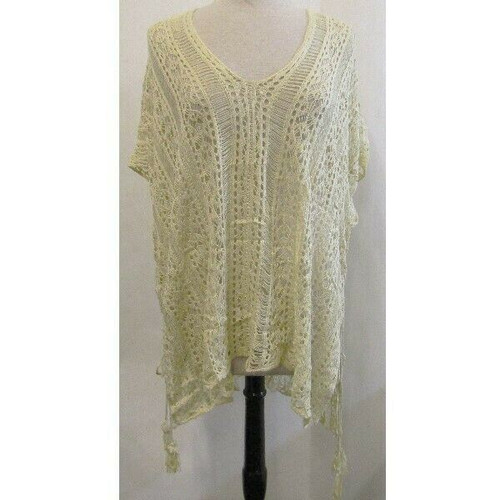 Wander Agio Beige Beach Swimsuit Cover Up Women's NWT One Size