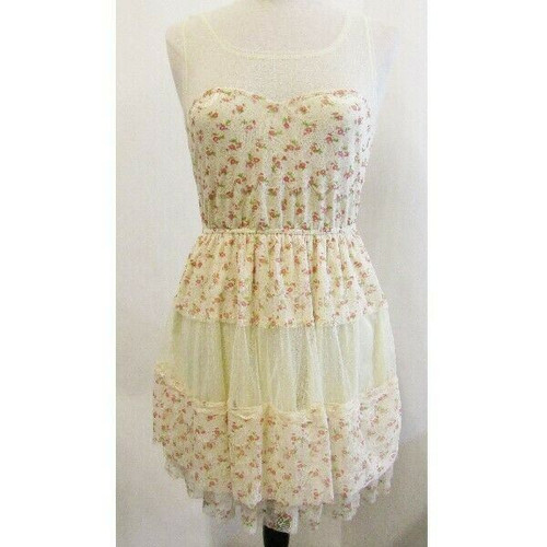 UP by Ultra Pink Floral Lace Women's Dress NWT Size L