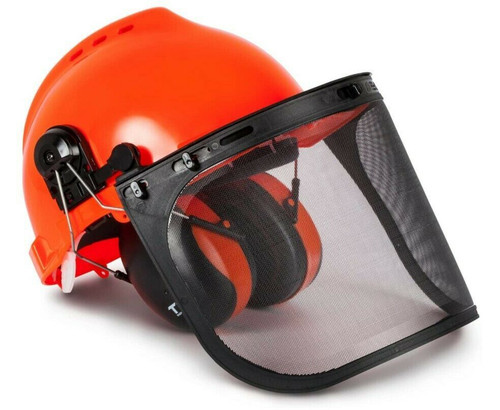 TR Industrial TR88011 Hard Hat Forestry Safety Helmet & Hearing Protection NEW