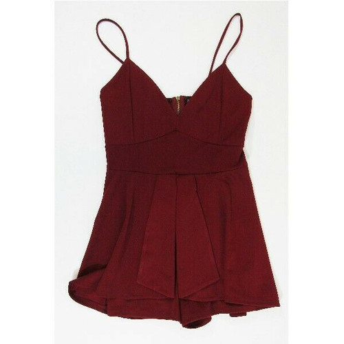 Windsor Burgundy Sleeveless Women's Romper New with Tags Size M