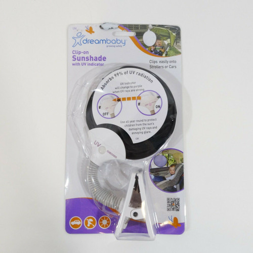 DreamBaby Clip-On Sunshade with UV Indicator  NEW - WORN PACKAGE