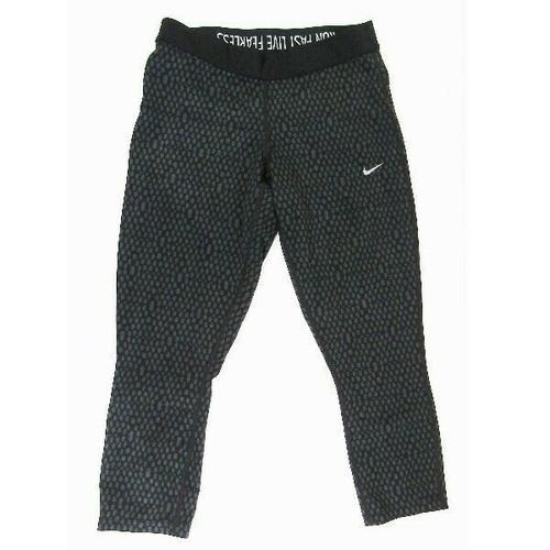 Nike Dri Fit Run Fast Live Fearless Black Women's Athletic Capri Size M