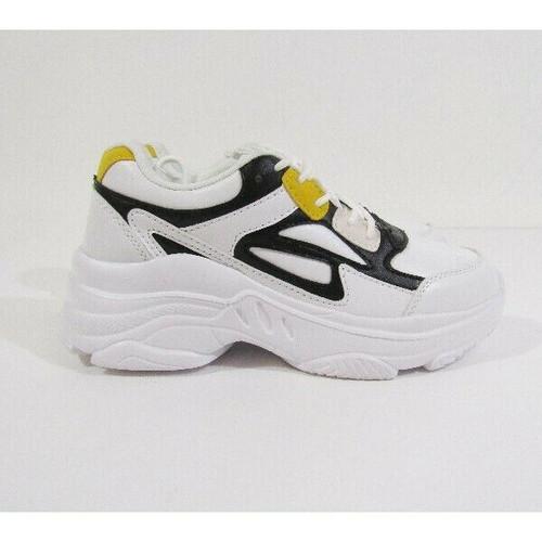 She & In Black, White & Yellow Women's Sneakers Size 5