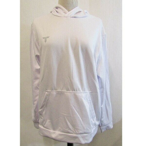 Takedown Sportswear White Micropolyester Men's Hoodie NWT Size Adult M