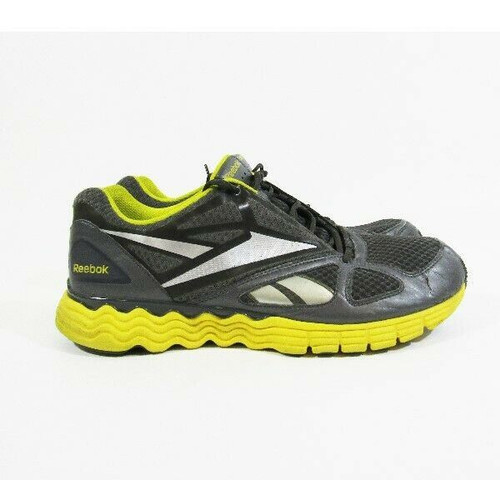 Reebok Vibe Tech Gray & Yellow Men's Running Shoes Size 12