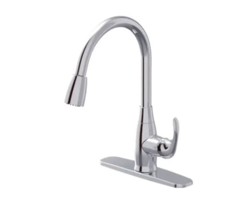 Season's Anchor Point Pull-Down Kitchen Faucet Chrome Finish 515217 - OPEN BOX