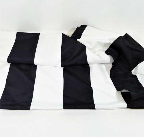 "CB2 Shadow Rect. Black/White Stripe Replacement Umbrella Shade 78.75"" W x 118"" L"