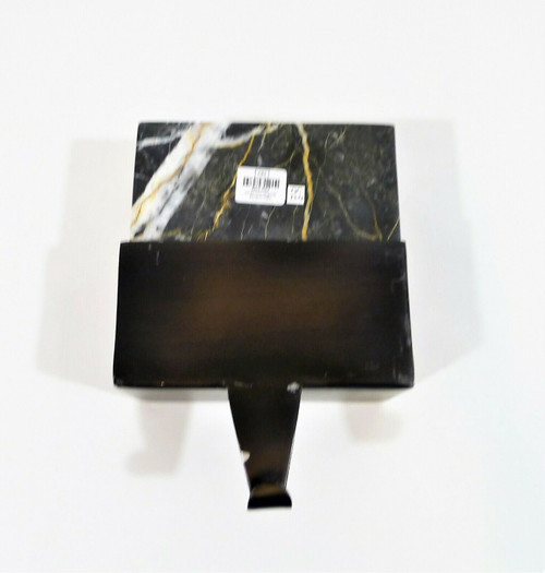 """CB2 Black Marble Stocking Holder 5"""" x 5"""" x 2.5""""- CHIPPING PAINT ON METAL"""
