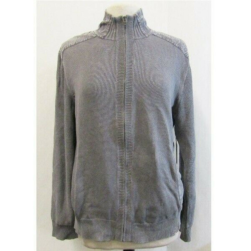 Calvin Klein Gray Zip up Modern Casual Men's Sweater NWT Size L