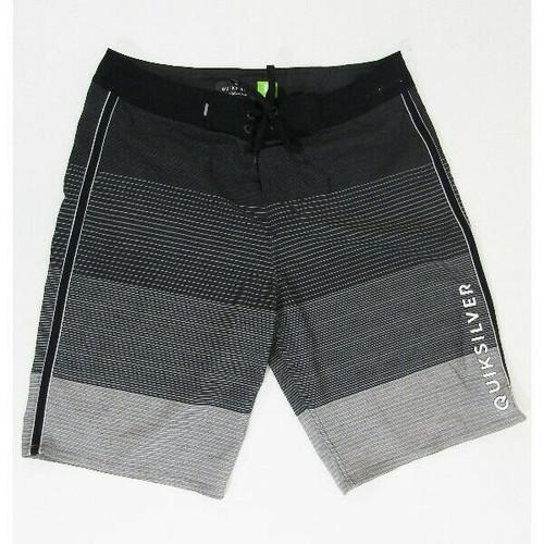 Quicksilver Highline Black & Gray Men's Swimming Trunks Size 30