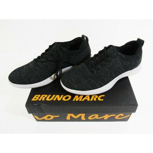 Bruno Marc Black & Gray Men's Athletic Shoes New w/ Original Box Size 10.5