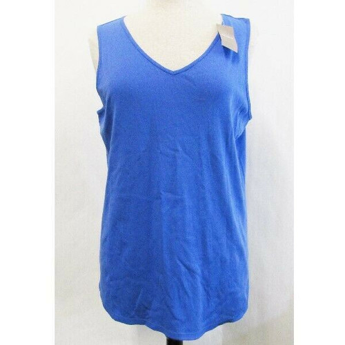 Chico's Blue Abby Shirttail Women's Ultimate Tee Tank Top NWT Size 3