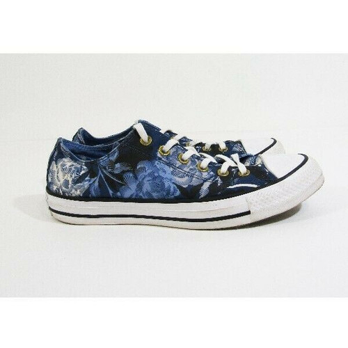 Converse All Star Blue Floral Women's Casual Sneakers Size 9