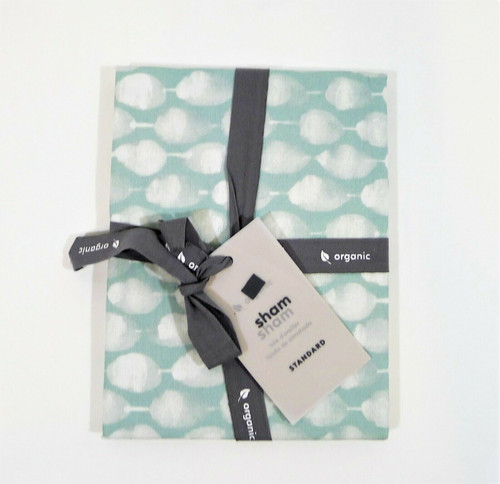 West Elm Light Pool Organic Stamped Dot Standard Sham Only - NEW WITH TAGS