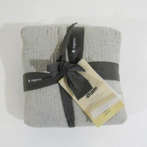 """West Elm Gray Textured Jacquard Standard Pillow Sham NWT Sham Only 26"""" x 20"""""""