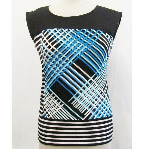 Calvin Klein Multicolor Striped Sleeveless Women's Blouse NWT Size S