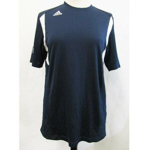 Adidas Navy Blue & White Climalite Short Sleeve Men's Athletic Shirt Size M