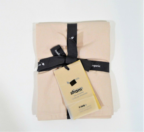 West Elm Champagne Organic Washed Cotton Percale King Size Sham Only -NEW W TAGS