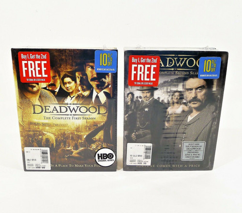 Deadwood The Complete First and Second Seasons DVD's - NEW SEALED