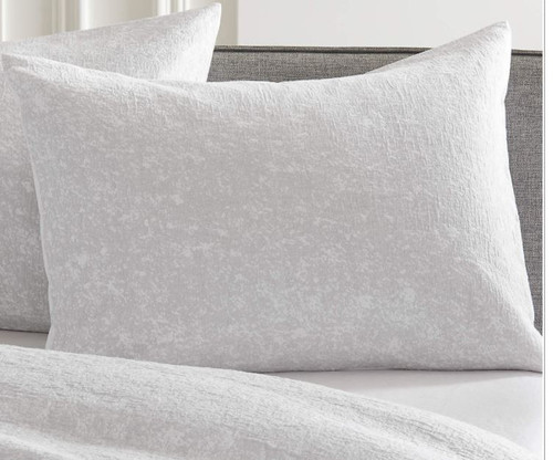 CB2 Gray Single Eira Standard Matelasse Sham Only (1) - NEW WITH TAGS