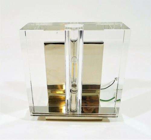 Ian K. Fowler Crystal and Polished Nickel Ambar Small Wall Light - FLOOR DISPLAY