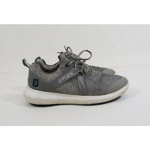 FootJoy Flex Gray & White Spikeless Men's Golf Shoes Size 8W