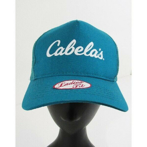 Bass Pro Shops Turquoise Cabela's Women's Snapback Hat *New without Tags