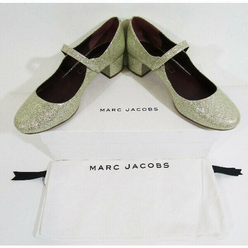 Marc Jacobs Sparkling Gold Women's Closed Toe Pumps In Original Box Size 8.5