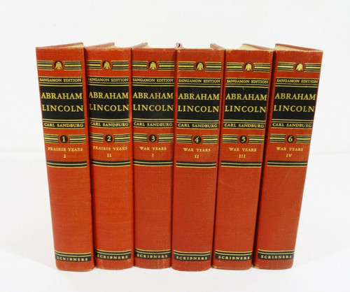 Vintage Sangamon Edition Abraham Lincoln 6-Volume Book Set