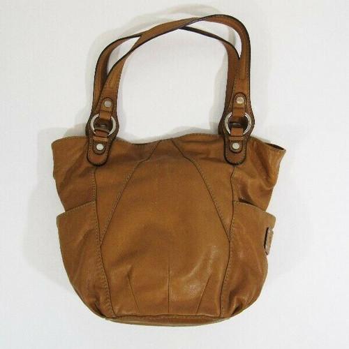 Tignanello Tan Leather Women's Shoulder Bag 15x12x4 *Has Stain*