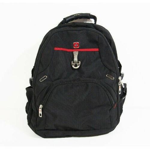 Swiss Gear Black & Red Men's Laptop Backpack 20x14x5