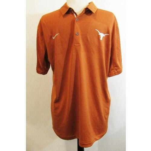 Nike Dri-Fit Burnt Orange Texas Longhorns Men's Polo Size L