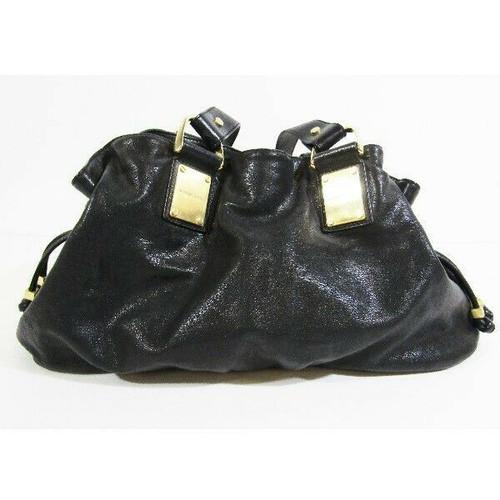 Michael Kors Black Leather Women's Hobo Bag 19x7x9 *Stain on Inner Zipper