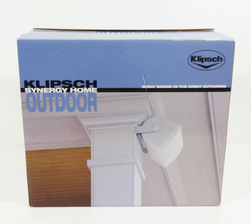 Klipsch Synergy Series 2-Way Indoor/Outdoor Speakers - White (Pair) NEW OPEN BOX