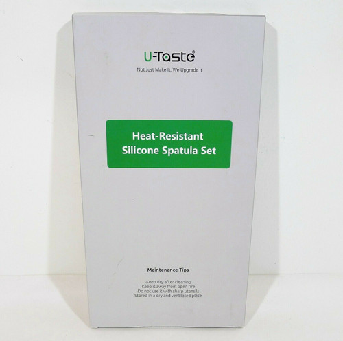 U-Taste 4 Piece Aqua Sky Premium Heat Resistant Silicone Spatula Set - NEW